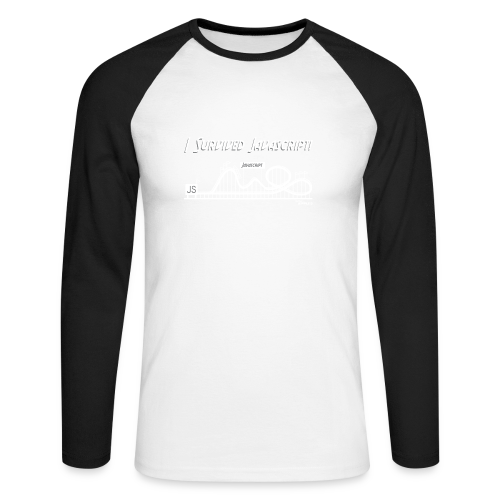 I Survived Javascript (Women) - Men's Long Sleeve Baseball T-Shirt