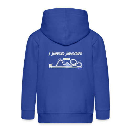 I Survived Javascript (Women) - Kids' Premium Zip Hoodie