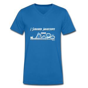 I Survived Javascript (Women) - Men's Organic V-Neck T-Shirt by Stanley & Stella