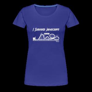 I Survived Javascript (Women) - Women's Premium T-Shirt