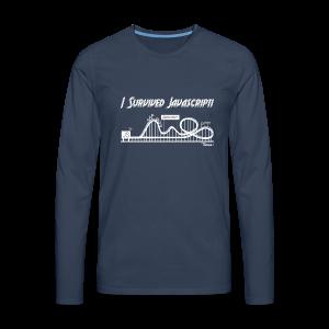 I Survived Javascript (Women) - Men's Premium Longsleeve Shirt
