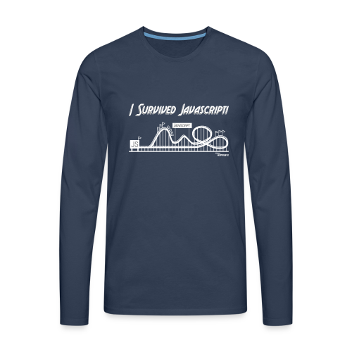 I Survived Javascript (Women) - Men's Premium Longsleeve Shirt