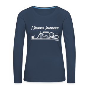 I Survived Javascript (Women) - Women's Premium Longsleeve Shirt