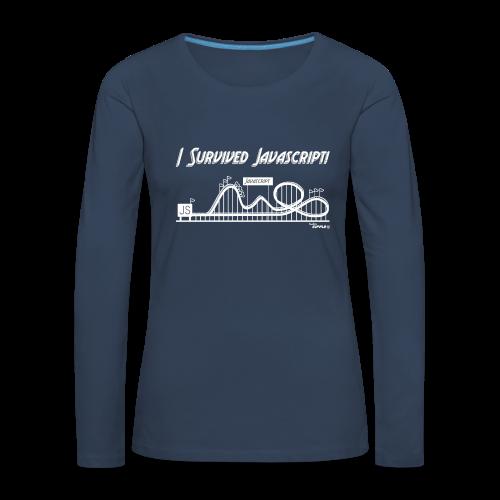 I Survived Javascript (Women) - Women's Premium Longsleeve Shirt