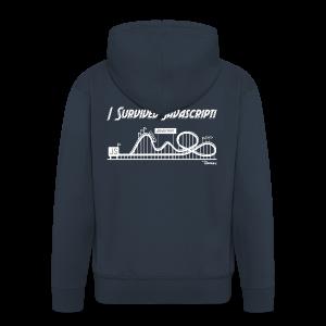 I Survived Javascript (Women) - Men's Premium Hooded Jacket
