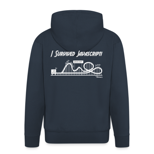 I Survived Javascript (Women) - Men's Premium Hooded Jacket
