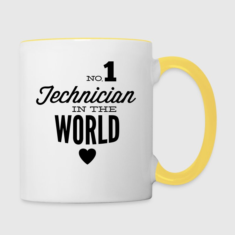 Best technician of the world Mugs & Drinkware - Contrasting Mug