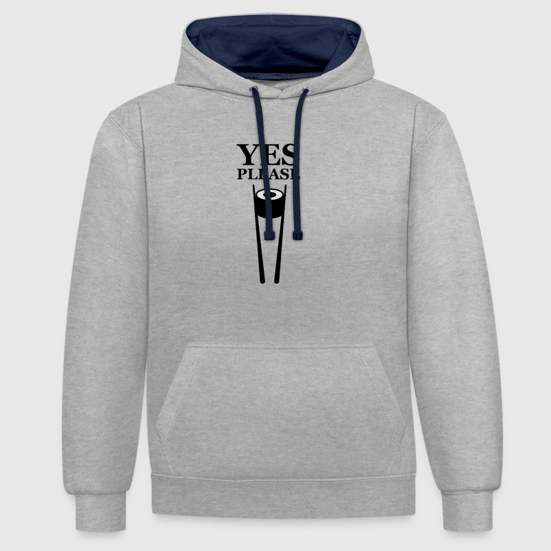 Sushi Yes Please - Contrast hoodie