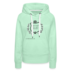 Make it work, make it right, make it fast - Women's Premium Hoodie
