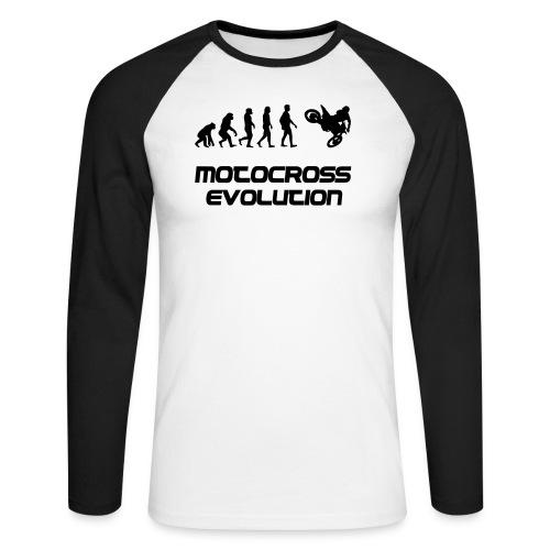 Motocross Evolution - Männer Baseballshirt langarm