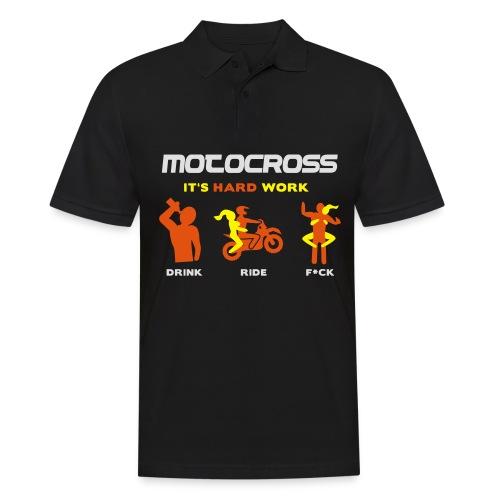 Motocross - It's hard work - Männer Poloshirt