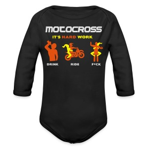 Motocross - It's hard work - Baby Bio-Langarm-Body