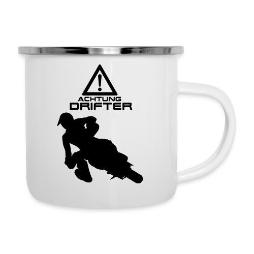 Supermoto Drifter - Emaille-Tasse
