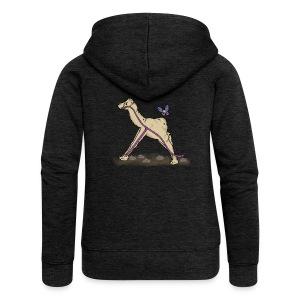 Lambda-Camel T-Shirt Frauen - Frauen Premium Kapuzenjacke