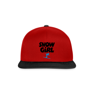 Snowgirl Ski Bio T-Shirt - Snapback Cap