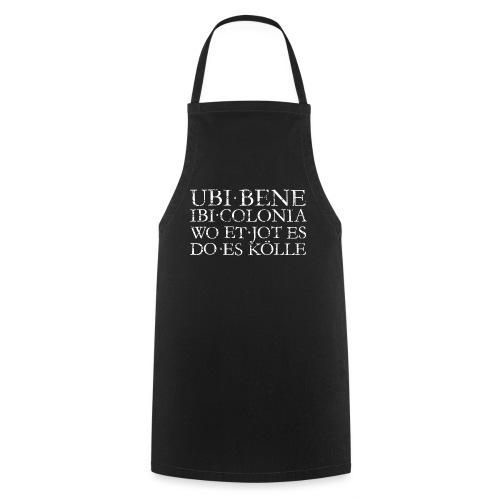 UBI BENE DO ES KÖLLE (Vintage Weiß) Köln Spruch Römisch - Kochschürze