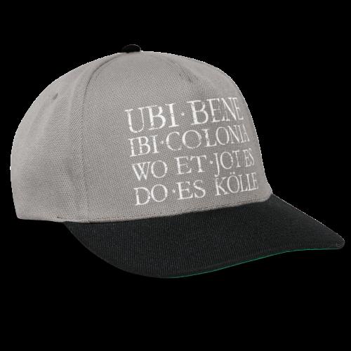UBI BENE DO ES KÖLLE (Vintage Weiß) Köln Spruch Römisch - Snapback Cap