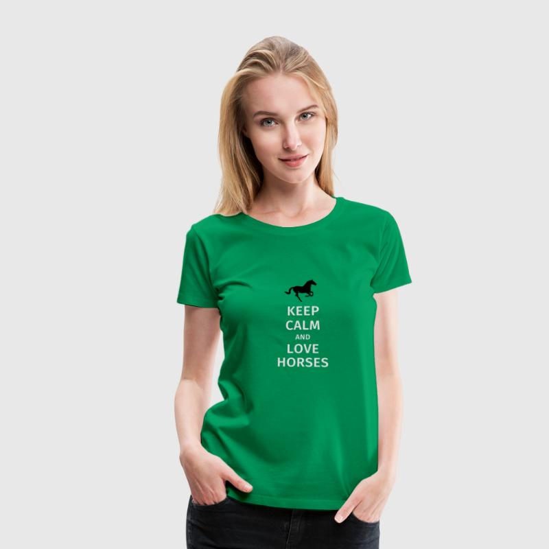 keep calm and love horses T-shirts - Vrouwen Premium T-shirt