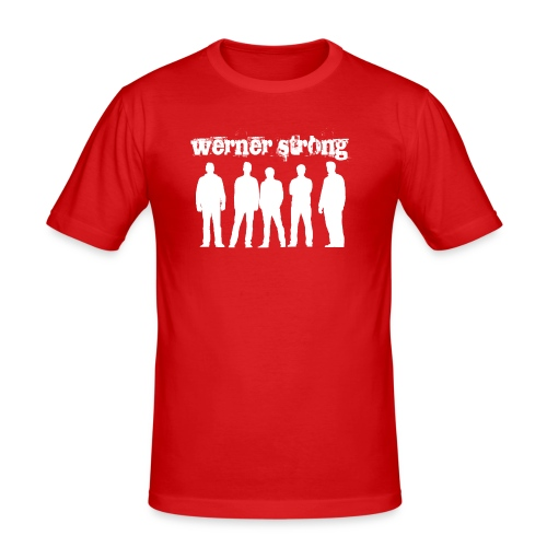 Werner Strong Band-Shirt Retro - Männer Slim Fit T-Shirt