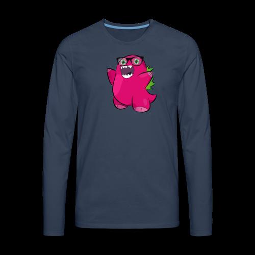 Bozilla - Dino - V-Ausschnitt - Männer Premium Langarmshirt