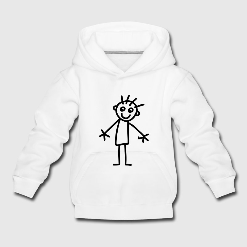 Stick figure kids drawing Hoodies - Kids' Premium Hoodie
