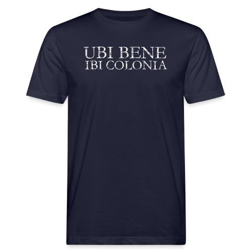 UBI BENE IBI COLONIA (Vintage Weiß) Köln Spruch Römisch - Männer Bio-T-Shirt