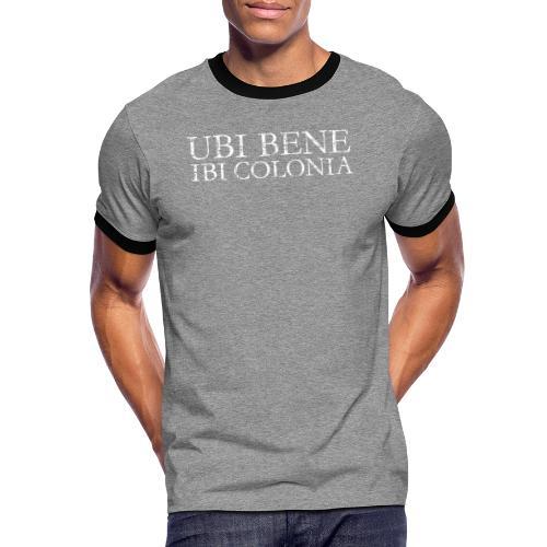 UBI BENE IBI COLONIA (Vintage Weiß) Köln Spruch Römisch - Männer Kontrast-T-Shirt