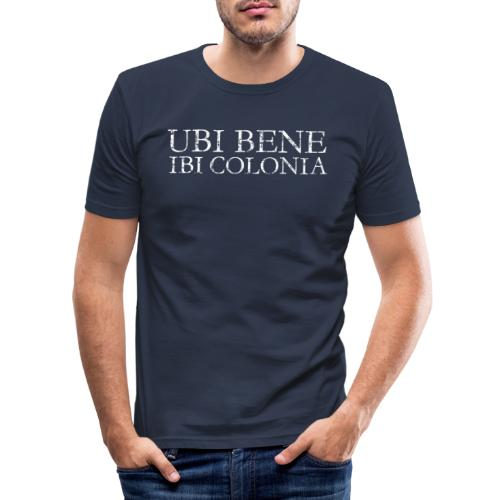 UBI BENE IBI COLONIA (Vintage Weiß) Köln Spruch Römisch - Männer Slim Fit T-Shirt