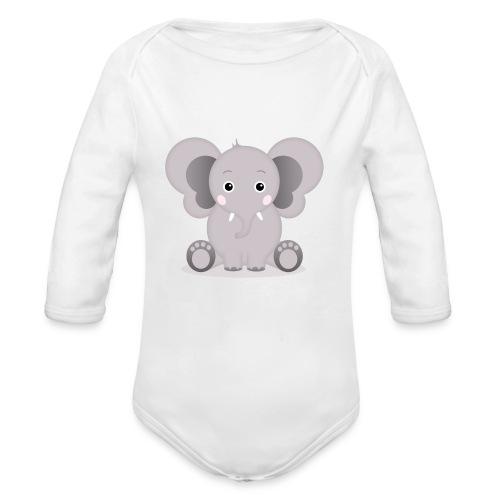 Baby Elefant Elias - Baby Bio-Langarm-Body