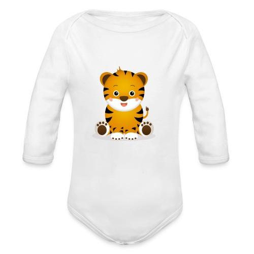 Baby Tiger Tim - Baby Bio-Langarm-Body