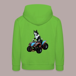 Sheepdog on Quad-bike - Kids' Premium Hoodie