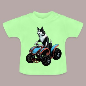 Sheepdog on Quad-bike - Baby T-Shirt