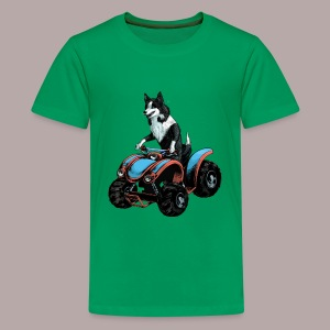 Sheepdog on Quad-bike - Teenage Premium T-Shirt