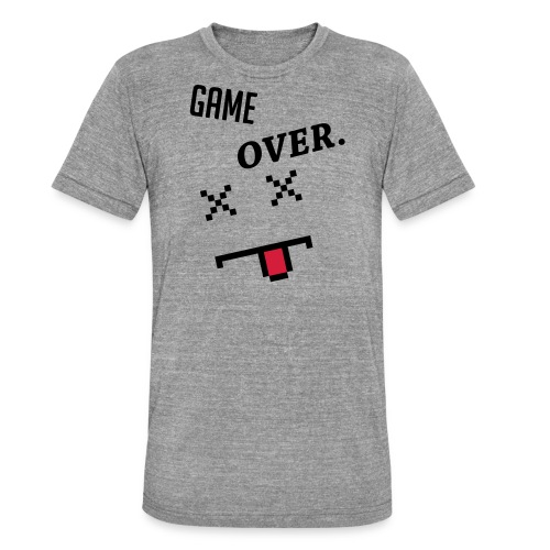 LIMITED EDITION! Game Over Geek Hoodie/Sweater - Unisex Tri-Blend T-Shirt by Bella & Canvas