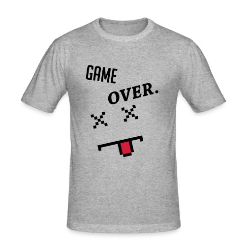 LIMITED EDITION! Game Over Geek Hoodie/Sweater - Men's Slim Fit T-Shirt