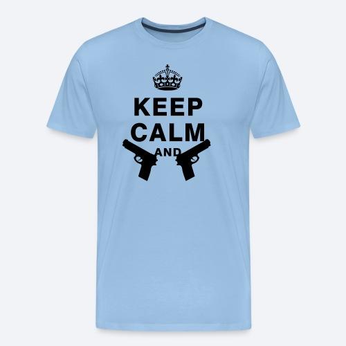 Keep Calm & XxSpeedBullet - Mannen Premium T-shirt