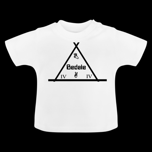 Official Teen's Big Logo Bedale Tee [ White ] - Baby T-Shirt