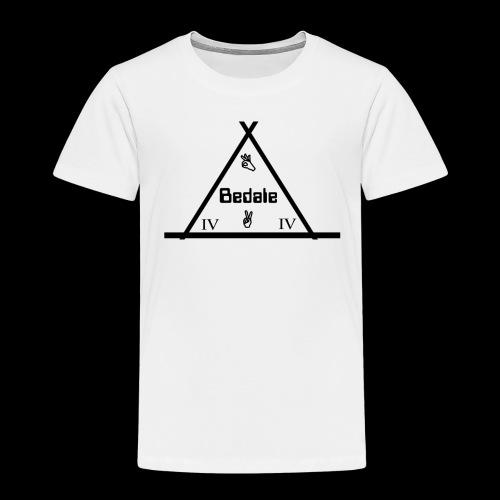 Official Teen's Big Logo Bedale Tee [ White ] - Kids' Premium T-Shirt