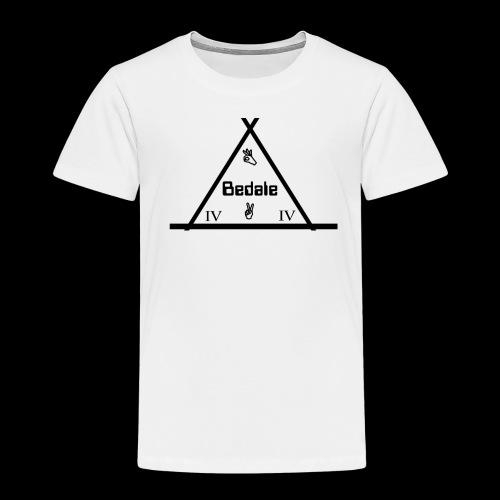 Official Teen's Big Logo Bedale Tee [ White ] - Kids' Premium T-Shirt