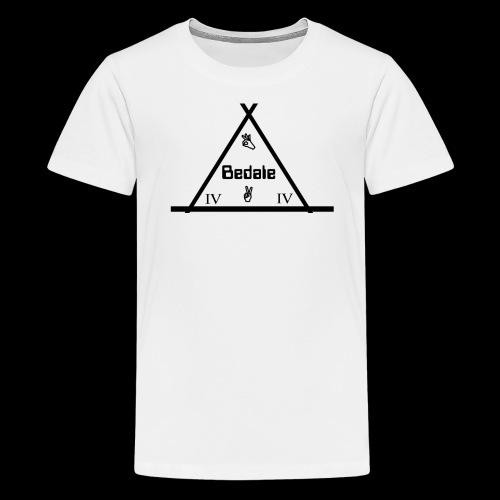 Official Teen's Big Logo Bedale Tee [ White ] - Teenage Premium T-Shirt