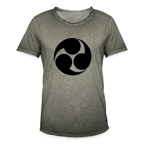 Kobayakawa Mon Japanese clan black - Men's Vintage T-Shirt