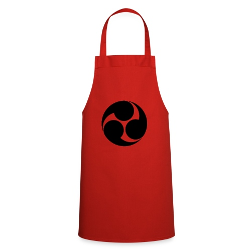 Kobayakawa Mon Japanese clan black - Cooking Apron