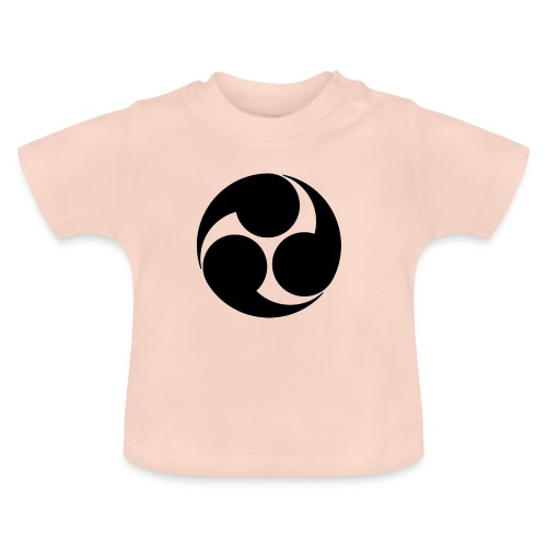 Kobayakawa Mon Japanese clan black - Baby T-Shirt