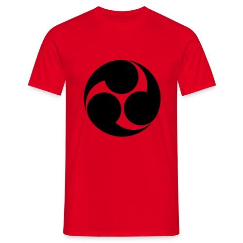 Kobayakawa Mon Japanese clan black - Men's T-Shirt