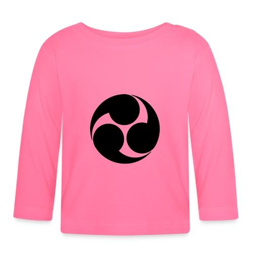Kobayakawa Mon Japanese clan black - Baby Long Sleeve T-Shirt