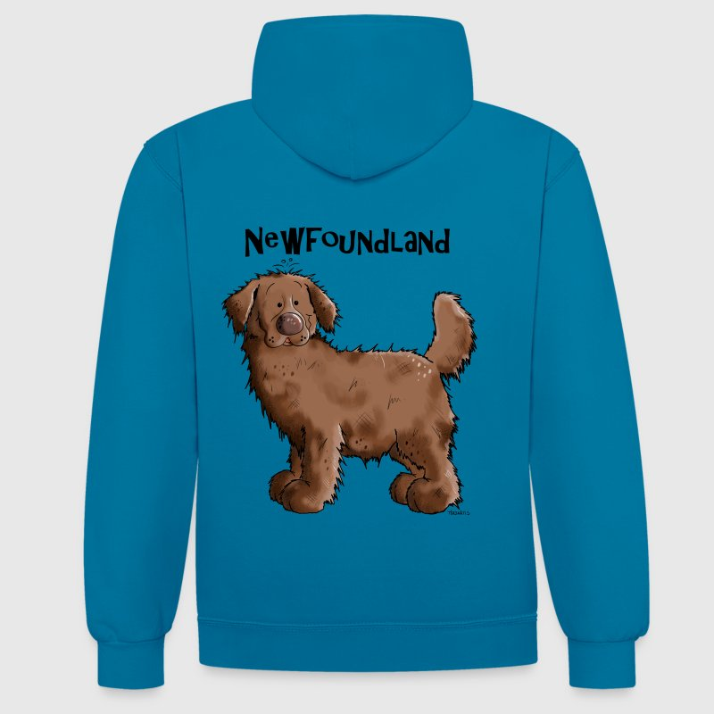 Sweet Newfoundland Dog Hoodies & Sweatshirts - Contrast Colour Hoodie