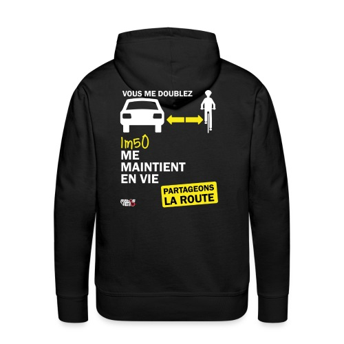1m50-vie-noir - Sweat-shirt à capuche Premium pour hommes