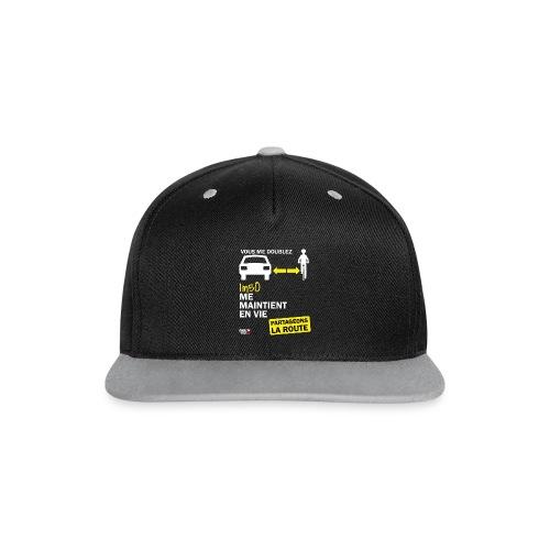 1m50-vie-noir - Casquette Snapback contrastée