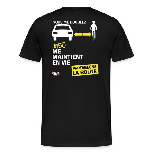 1m50-vie-noir - T-shirt Premium Homme
