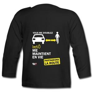 1m50-vie-noir - T-shirt manches longues Bébé